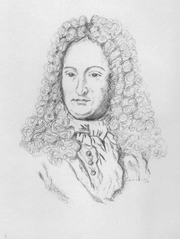 Christiane Strenge porträtierte für die Leibniz Privatschule den Universalgelehrten.